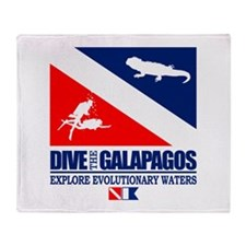 Dive The Galapagos Throw Blanket