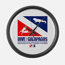 Dive The Galapagos Large Wall Clock