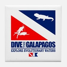 Dive The Galapagos Tile Coaster