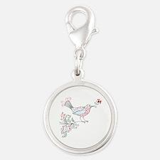Swirly Floral Bird Flower Vintage Patterns Charms