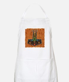 Thors Hammer in color Apron