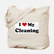 I Love Cleaning Tote Bag