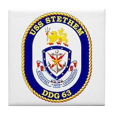 USS Stethem DDG 63 Tile Coaster