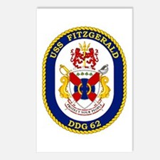 USS Fitzgerald DDG 62 Postcards (Package of 8)