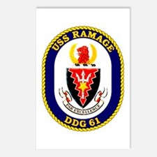 USS Ramage DDG 61 Postcards (Package of 8)