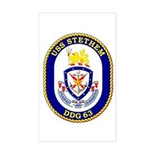 USS Stethem DDG 63 Rectangle Decal