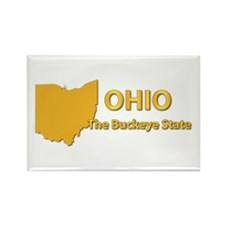State - Ohio - Buckeye State Rectangle Magnet