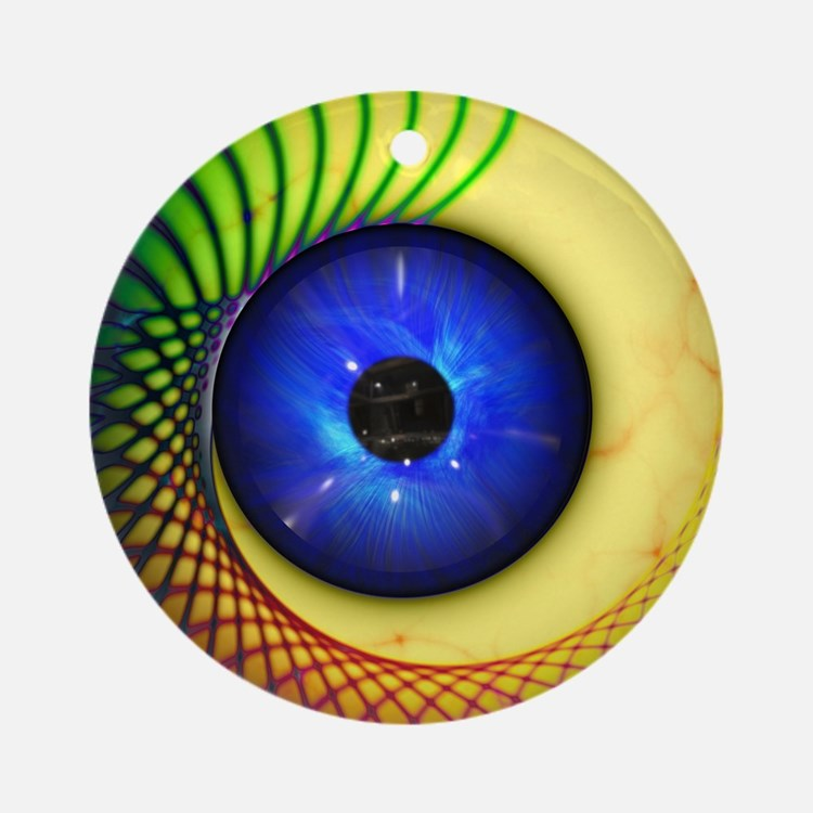 Psychedelic Eye Ornament (Round)