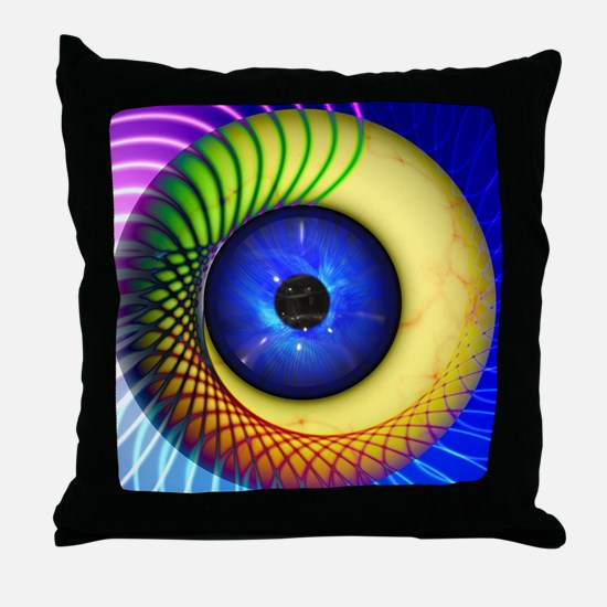 Psychedelic Eye Throw Pillow
