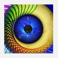 Psychedelic Eye Tile Coaster