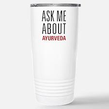 Ayurveda - Ask Me About Travel Mug