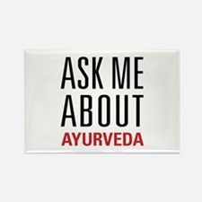 Ayurveda - Ask Me About Rectangle Magnet