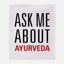 Ayurveda - Ask Me About Throw Blanket