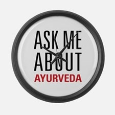 Ayurveda - Ask Me About Large Wall Clock