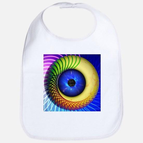 Psychedelic Eye Bib