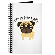 Crazy Pug Lady Journal