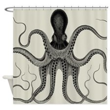 Vintage Octopus Design Shower Curtain