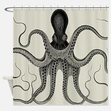 Vintage Octopus Design Shower Curtain