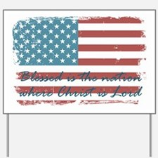 Blessed Nation Yard Sign