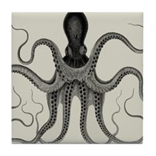 Vintage Octopus Design Tile Coaster