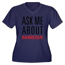 Barbeque - A Women's Plus Size V-Neck Dark T-Shirt