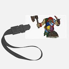 Viking Cartoon Luggage Tag