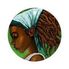 Jamaican girl Round Ornament