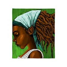 Jamaican girl Throw Blanket