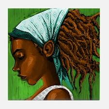 Jamaican girl Tile Coaster