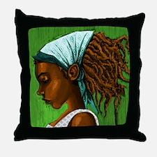 Jamaican girl Throw Pillow