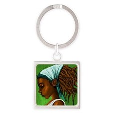Jamaican girl Square Keychain