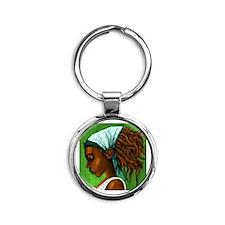 Jamaican girl Round Keychain