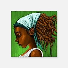 "Jamaican girl Square Sticker 3"" x 3"""
