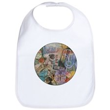 Venice Vintage Trendy Italy Travel Collage Bib