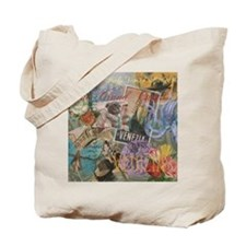 Venice Vintage Trendy Italy Travel Collage Tote Ba