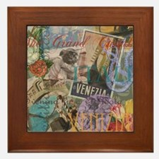 Venice Vintage Trendy Italy Travel Collage Framed