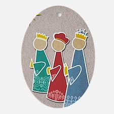 Three Kings Oval Ornament
