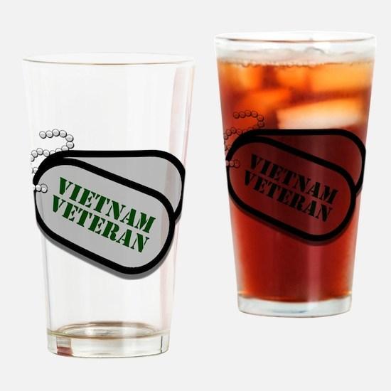 Vietnam Dog Tags Drinking Glass