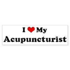 I Love Acupuncturist Bumper Bumper Sticker