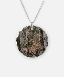 Realistic Tree Forest Camo Necklace