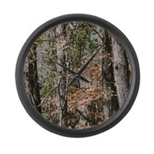 Realistic Tree Forest Camo Large Wall Clock