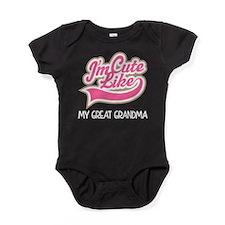 Cute like my Great grandma Baby Bodysuit