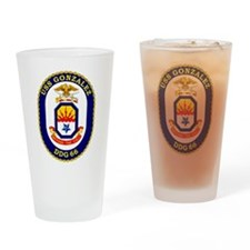 DDG-66 Gonzalez Drinking Glass