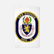 DDG-70 USS Hopper 3'x5' Area Rug