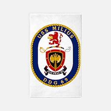 DDG 69 USS Milius 3'x5' Area Rug