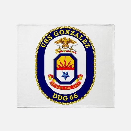 DDG-66 Gonzalez Throw Blanket