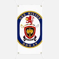 DDG 69 USS Milius Banner