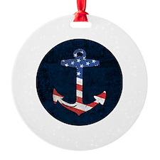 American Flag Anchor Ornament