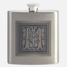 Romanesque Monogram M Flask