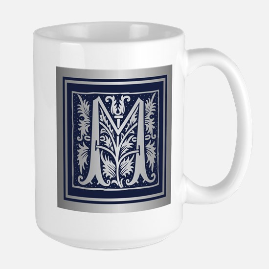 Romanesque Monogram M Mugs